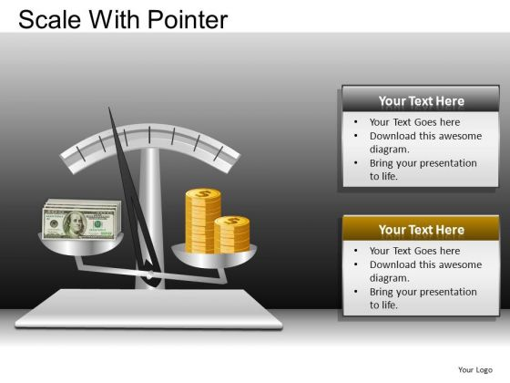 PowerPoint Theme Executive Education Scale With Pointer Ppt Designs