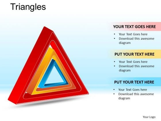 PowerPoint Theme Executive Education Targets Triangles Ppt Presentation