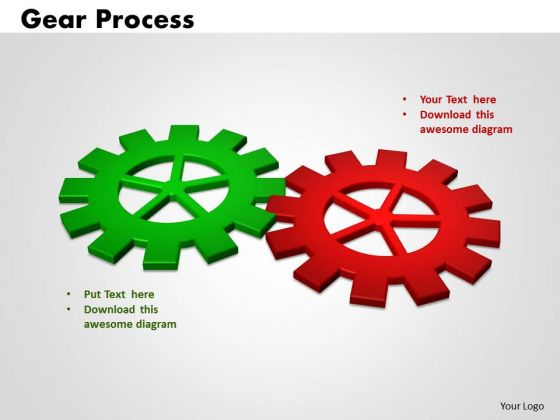 PowerPoint Theme Gears Process Business Ppt Slides
