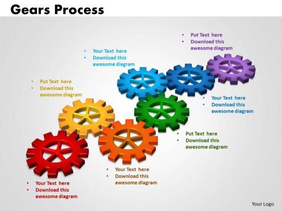 PowerPoint Theme Gears Process Success Ppt Slides