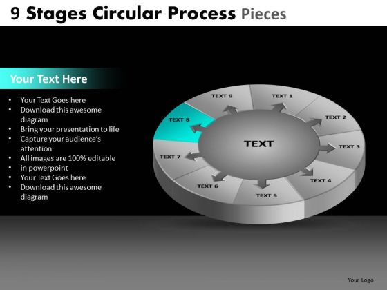 PowerPoint Theme Global Circular Process Ppt Layout