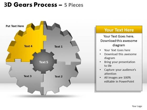 PowerPoint Theme Graphic Gear Process Ppt Layout