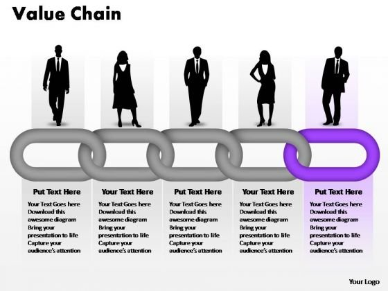 PowerPoint Theme Growth Business Value Chain Ppt Design