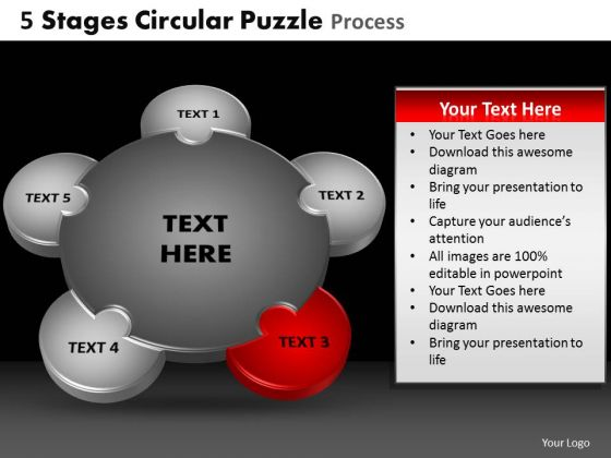 PowerPoint Theme Growth Circular Puzzle Ppt Slides