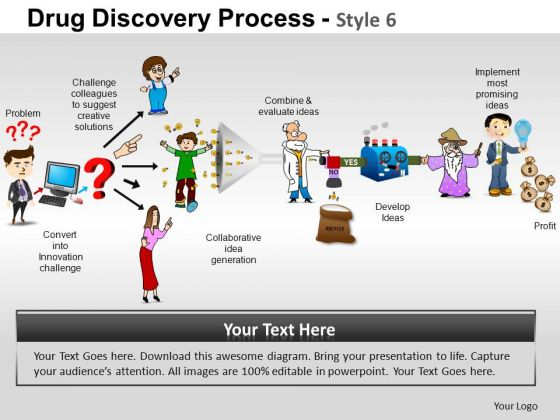 PowerPoint Theme Growth Drug Discovery Ppt Backgrounds