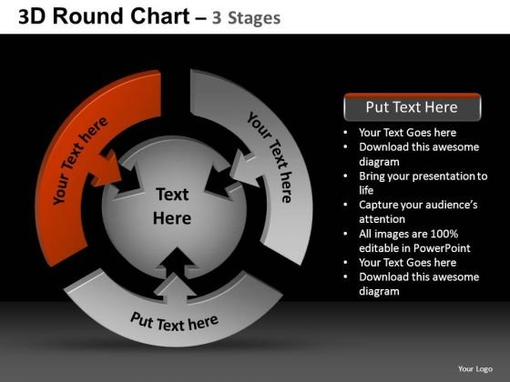 PowerPoint Theme Growth Round Chart Ppt Theme