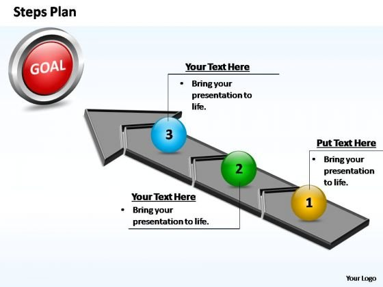 PowerPoint Theme Growth Steps Plan 3 Stages Style 4 Ppt Slides