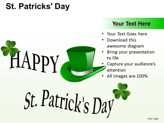 PowerPoint Theme Hat Patricks Day Ppt Layouts