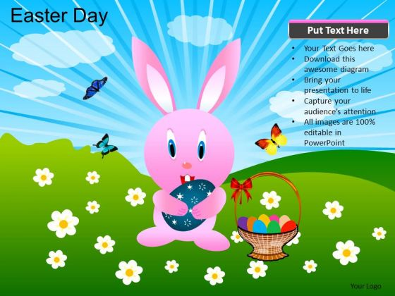 PowerPoint Theme Image Easter Day Ppt Process