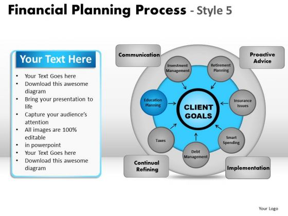 PowerPoint Theme Image Financial Planning Ppt Template