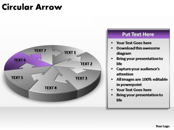 PowerPoint Theme Leadership Circular Arrow Ppt Presentation