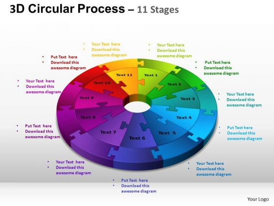 PowerPoint Theme Leadership Circular Process Cycle Ppt Process
