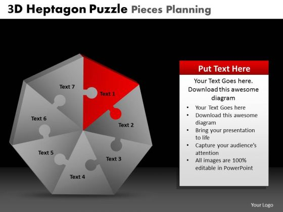 PowerPoint Theme Leadership Heptagon Puzzle Ppt Slidelayout