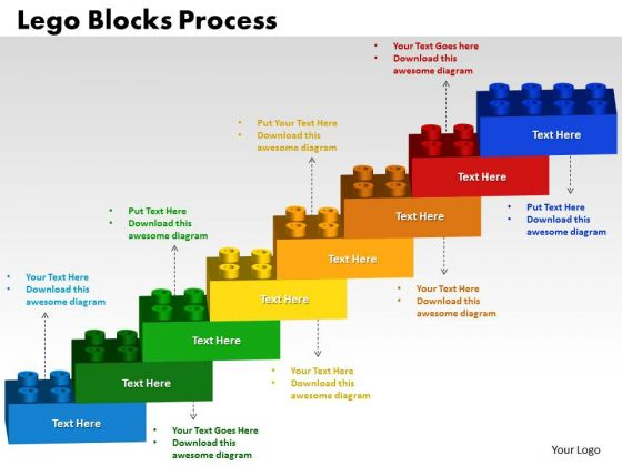 PowerPoint Theme Lego Blocks Process Teamwork Ppt Slide