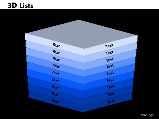 PowerPoint Theme Lists Chart Ppt Template