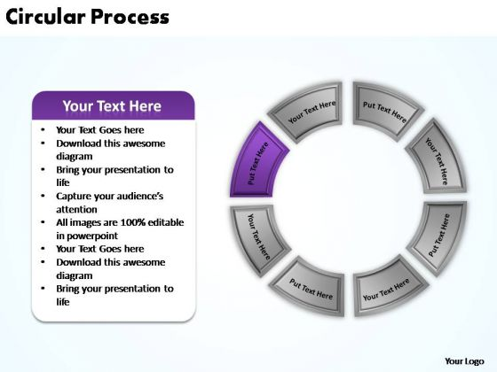 PowerPoint Theme Marketing Circular Process Ppt Templates