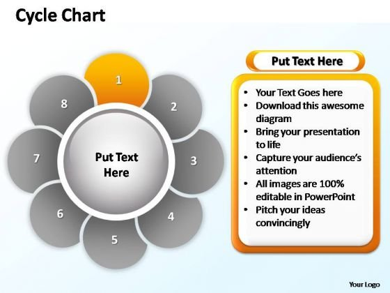 PowerPoint Theme Marketing Cycle Chart Ppt Templates