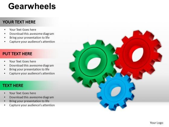 PowerPoint Theme Marketing Gearwheels Ppt Template