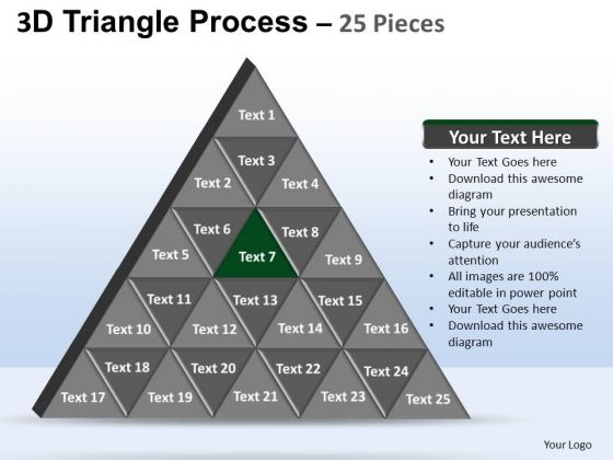 PowerPoint Theme Marketing Triangle Process Ppt Slide Designs