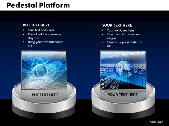 PowerPoint Theme Pedestal Platform Global Ppt Design