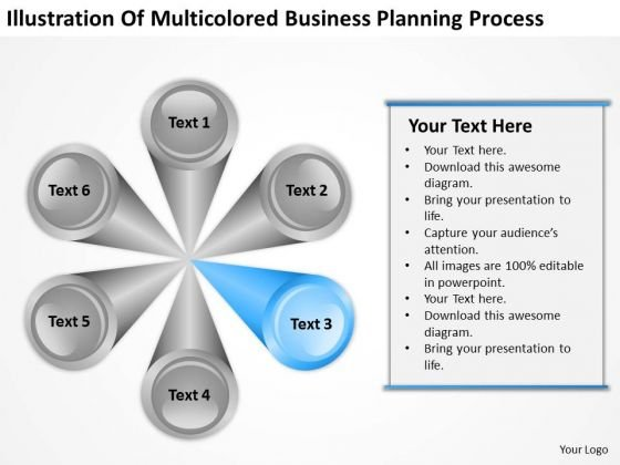 PowerPoint Theme Planning Process 6 Stages Business Templates