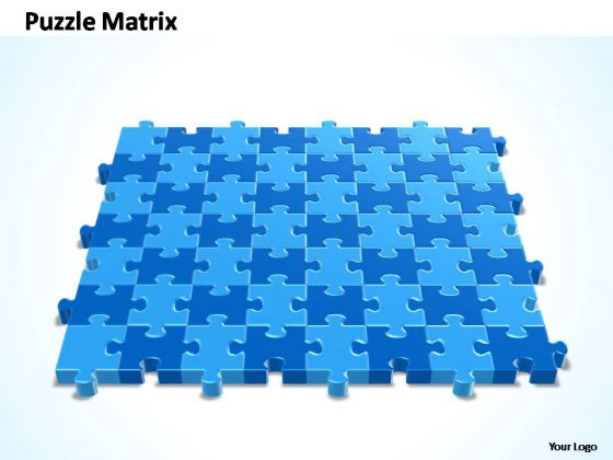 PowerPoint Theme Process 8x7 Rectangular Jigsaw Puzzle Matrix Ppt Designs