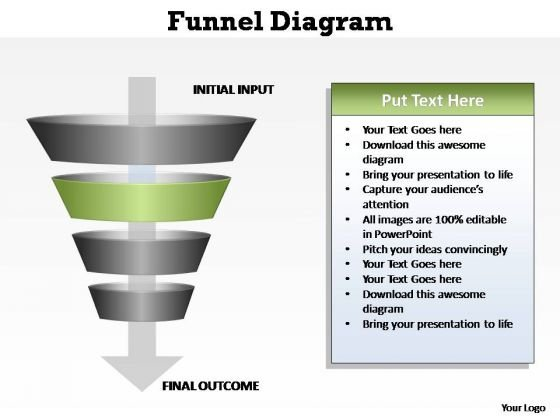 PowerPoint Theme Process Four Levels Of Filter Ppt Template