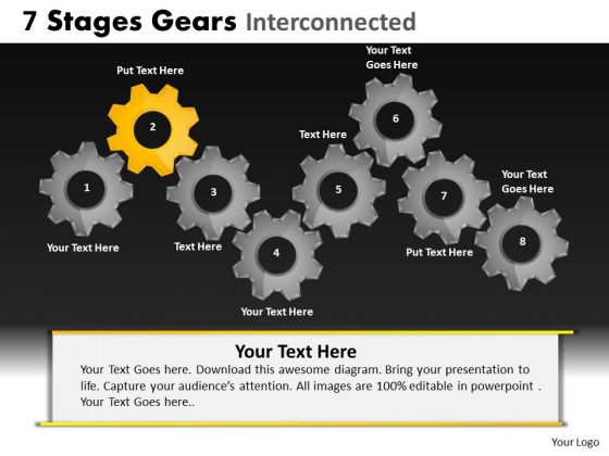 PowerPoint Theme Process Gears Ppt Slides