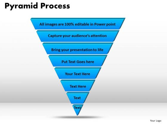 PowerPoint Theme Pyramid Process Business Ppt Slides