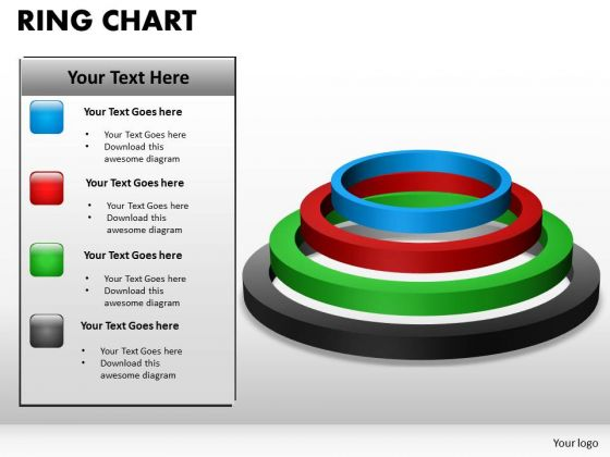 PowerPoint Theme Ring Chart Diagram Business Ppt Slides