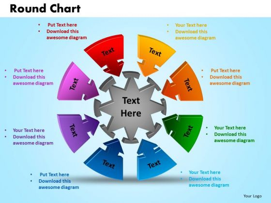 PowerPoint Theme Round Chart Marketing Ppt Slides