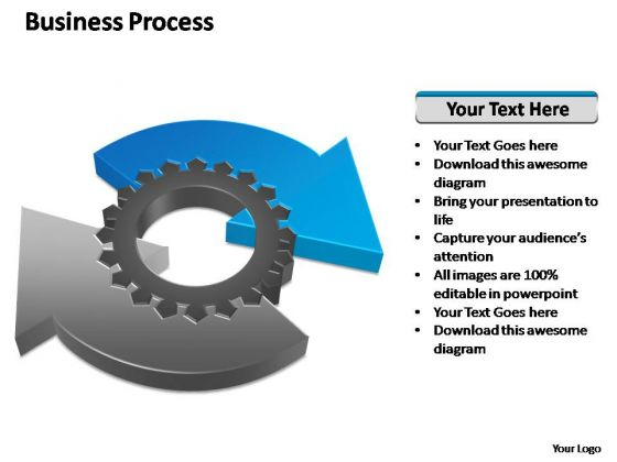 PowerPoint Theme Sales Business Process Geared Diagram Ppt Slides
