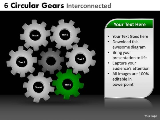 PowerPoint Theme Sales Circular Gears Ppt Themes