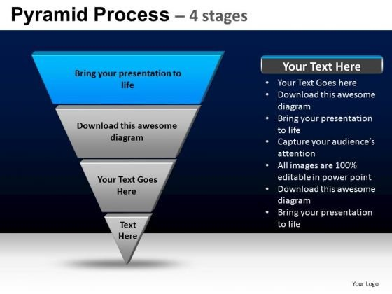 PowerPoint Theme Strategy Pyramid Process Ppt Backgrounds