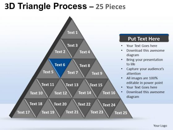 PowerPoint Theme Strategy Triangle Process Ppt Slide