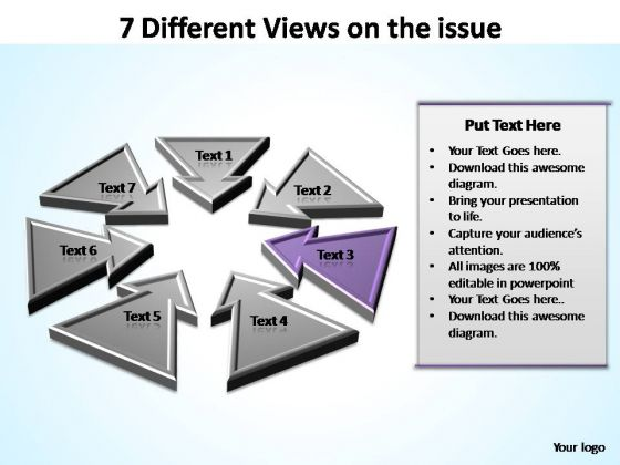 PowerPoint Theme Strategy Views Ppt Slides