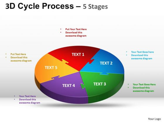 PowerPoint Theme Success Cycle Process Flow Ppt Presentation