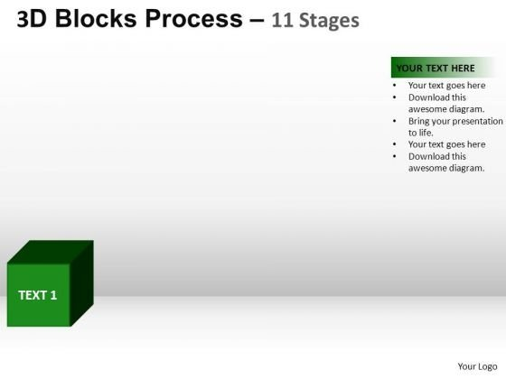 PowerPoint Theme Teamwork Blocks Process Ppt Design