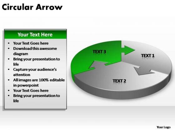 PowerPoint Theme Teamwork Circular Arrow Ppt Themes