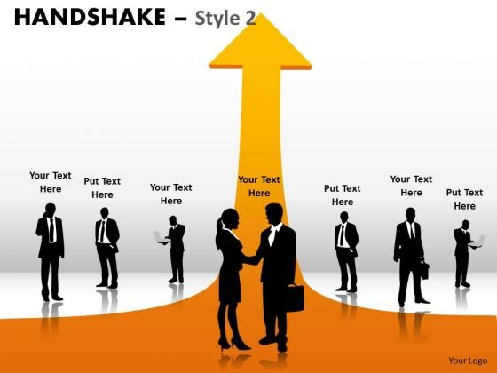 PowerPoint Theme Teamwork Handshake Ppt Process