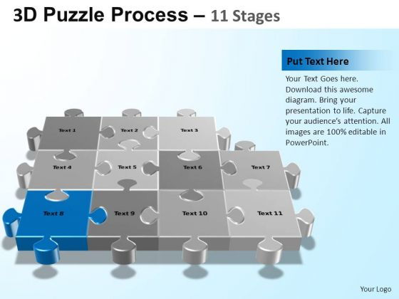 PowerPoint Theme Teamwork Puzzle Process Ppt Themes
