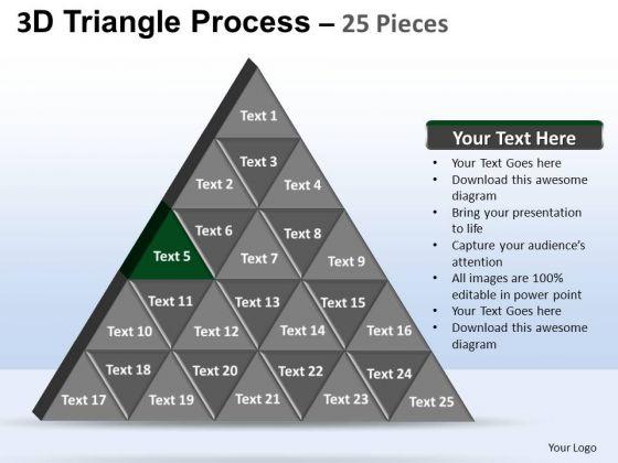 PowerPoint Theme Teamwork Triangle Process Ppt Theme