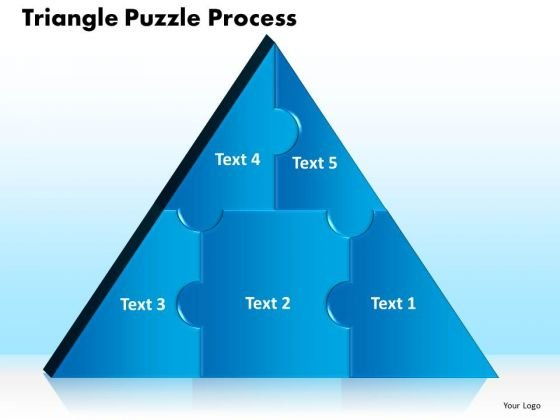 PowerPoint Theme Triangle Puzzle Business Ppt Theme