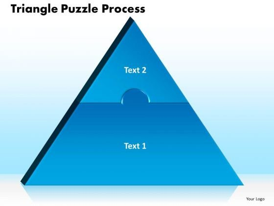 PowerPoint Theme Triangle Puzzle Process Ppt Slides