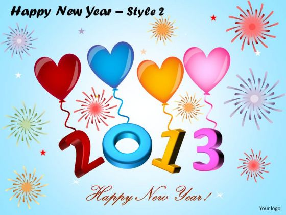 PowerPoint Themes 2013 Balloons Happy New Year Ppt Designs