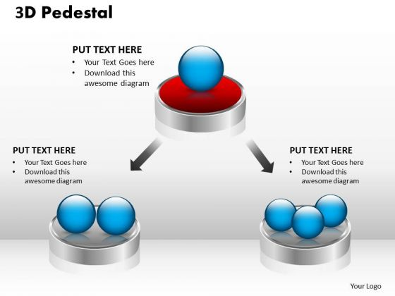 PowerPoint Themes Business 3d Pedestal Ppt Templates
