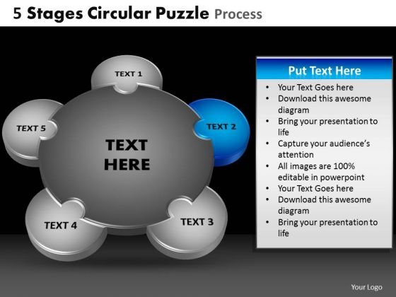 PowerPoint Themes Business Circular Puzzle Ppt Layouts