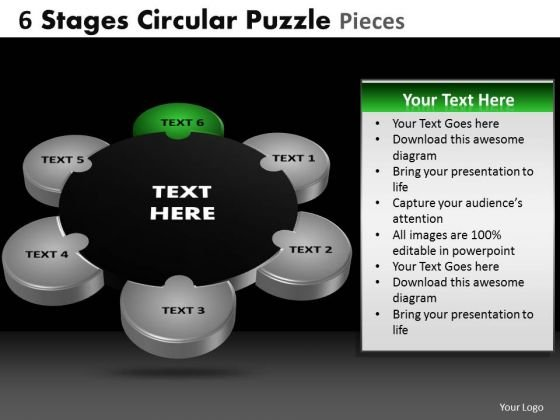 PowerPoint Themes Business Circular Puzzle Ppt Slide