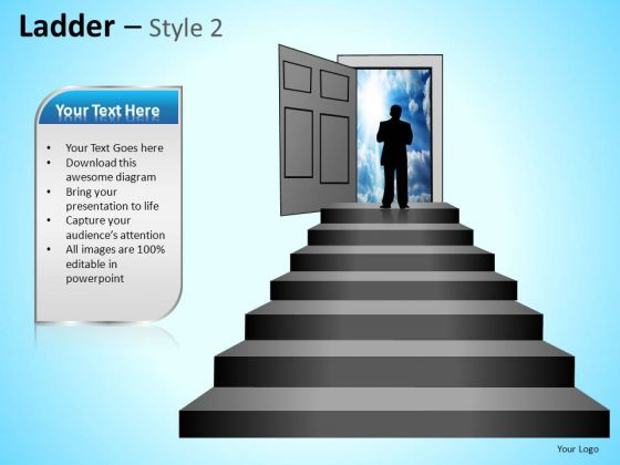 PowerPoint Themes Business Competition Ladder Ppt Templates