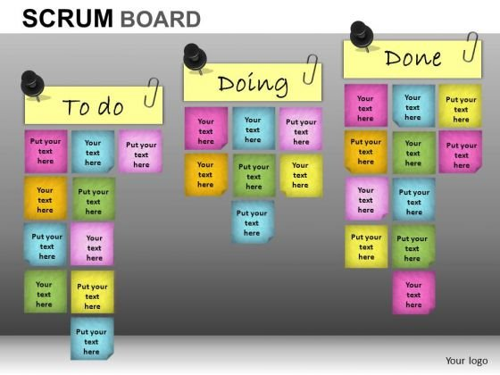 PowerPoint Themes Business Competition Scrum Process Ppt Templates